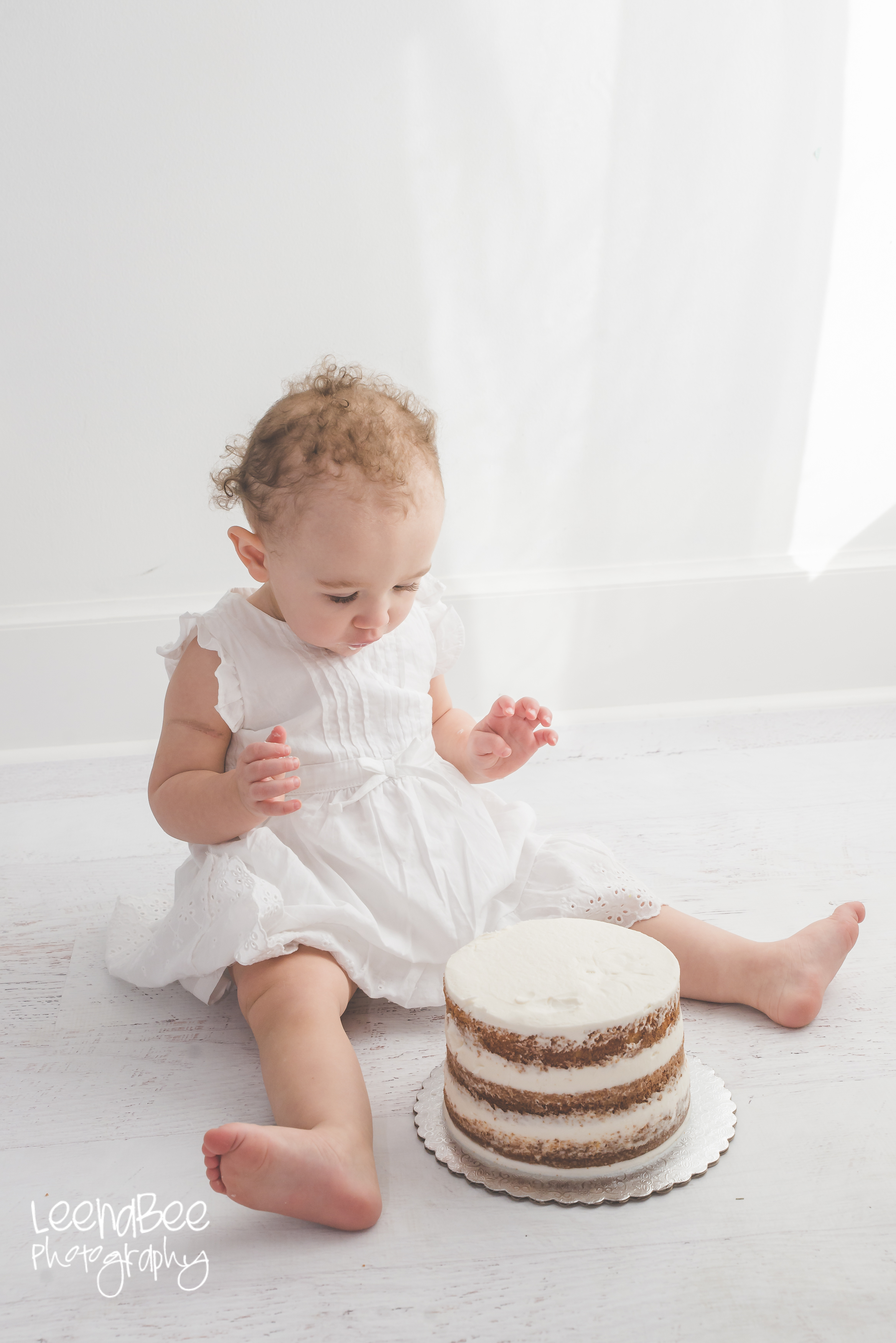 Boho First Birthday Cake Smash Dublin Ohio-23