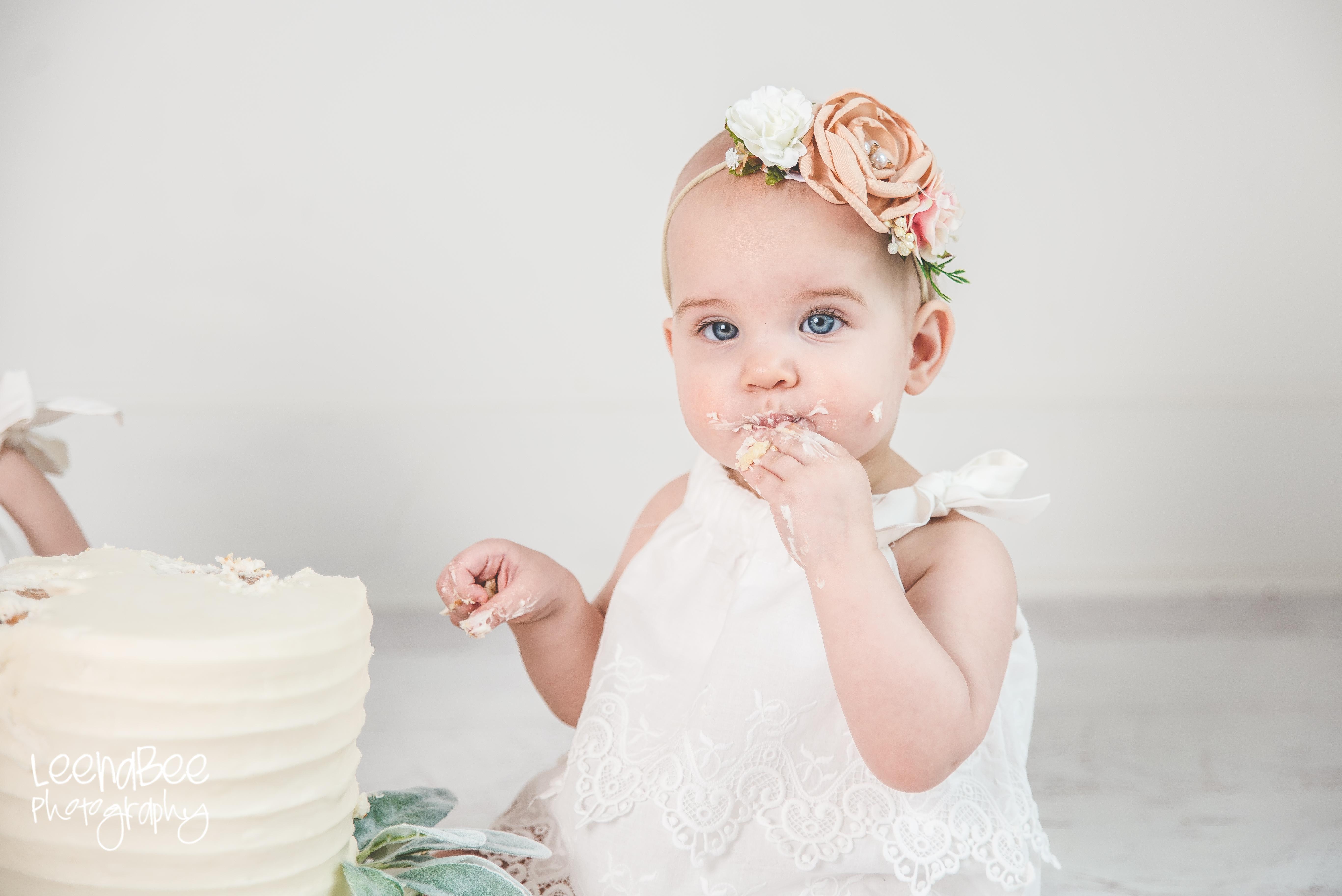 Dublin ohio first birthday cake smash photography-22