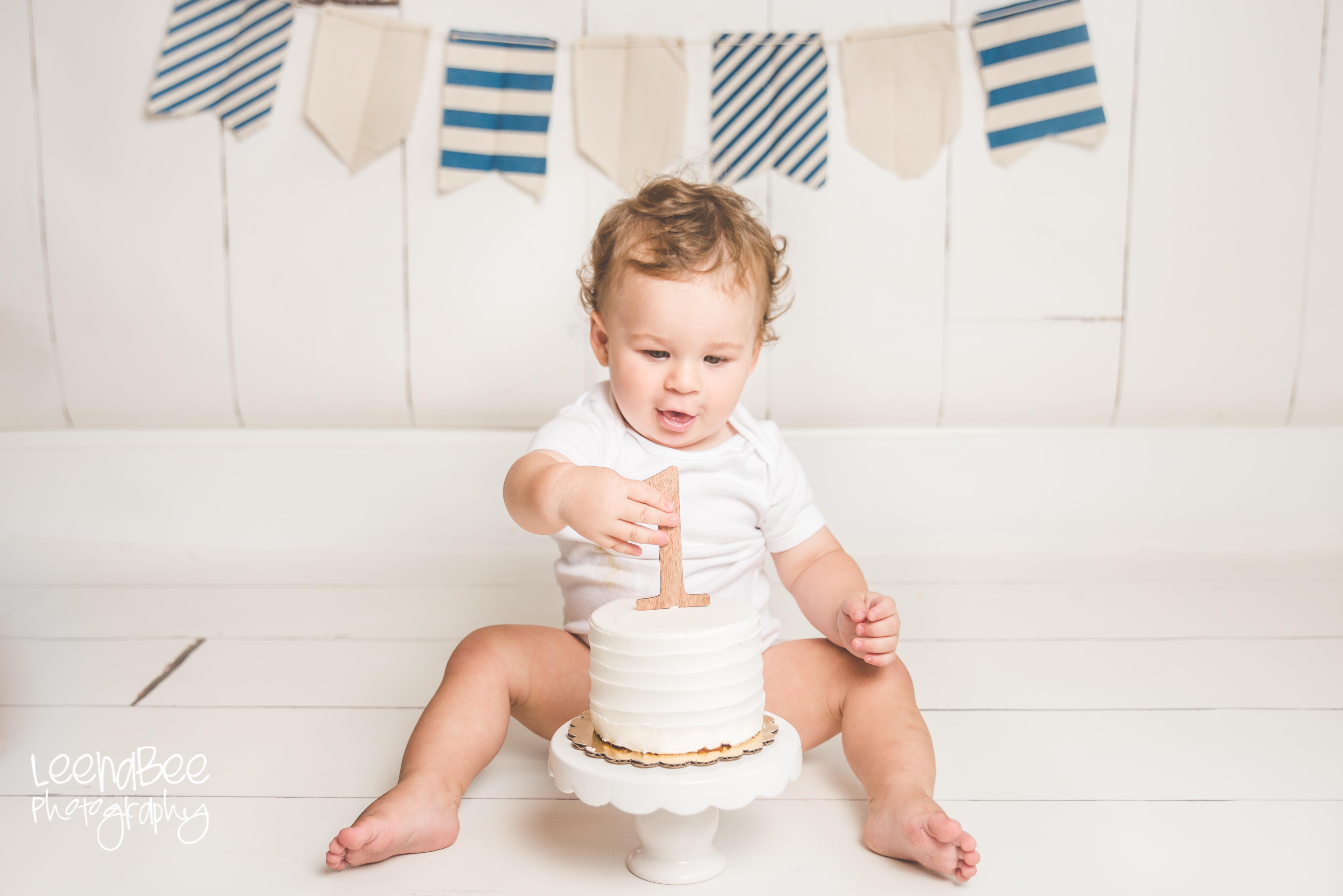 Cake smash first birthday dublin ohio-11