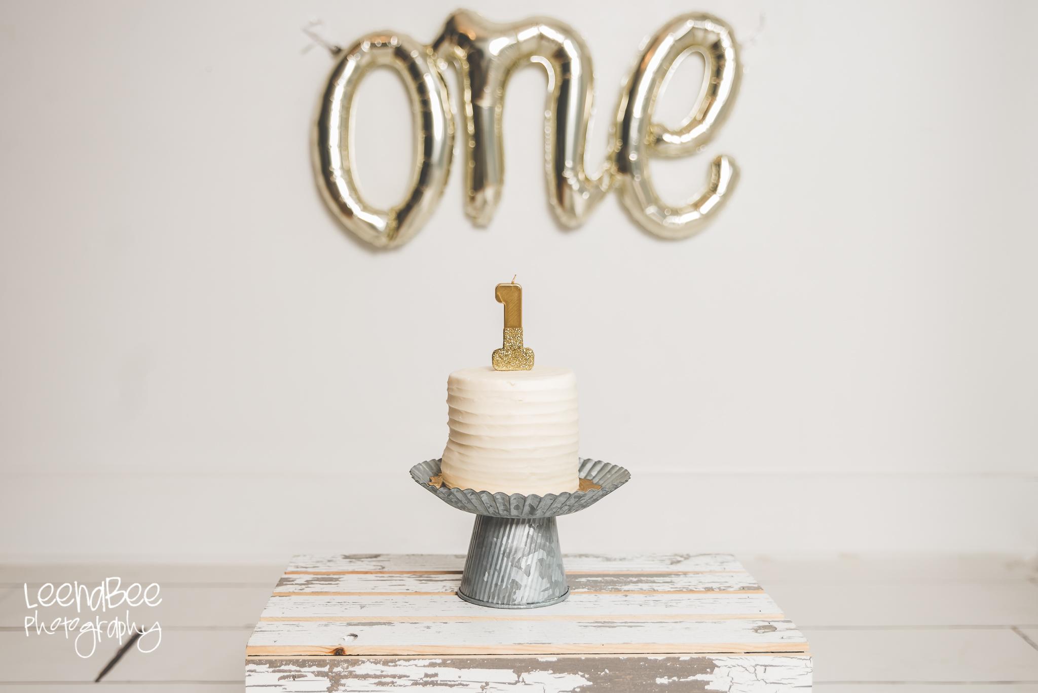 Dublin ohio first birthday cake smash photography-6